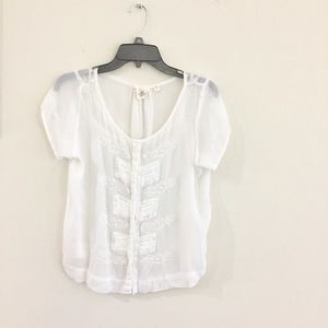 Anthropologie One Fine Day Blouse Top Small EUC